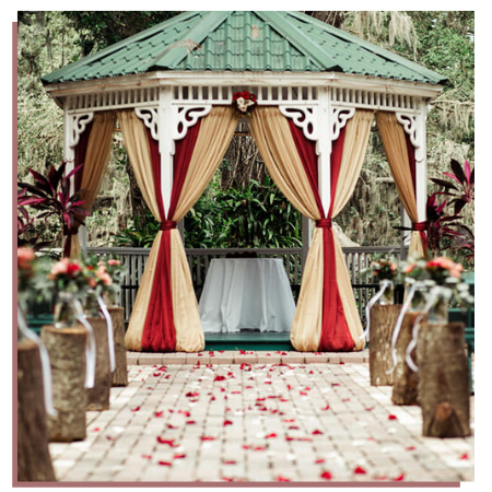 Decorated wedding gazebo