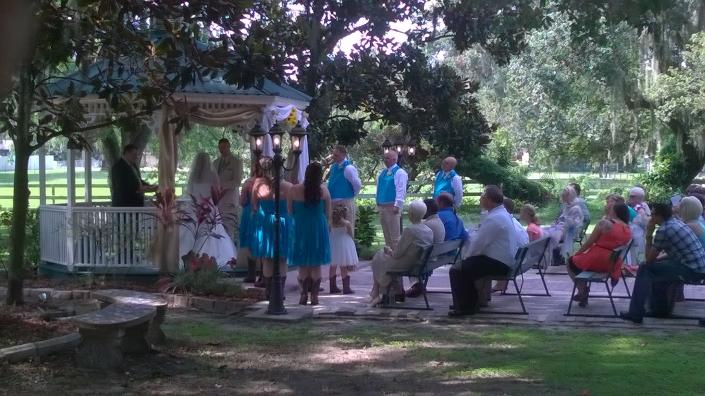 Gazebo area ceremony]