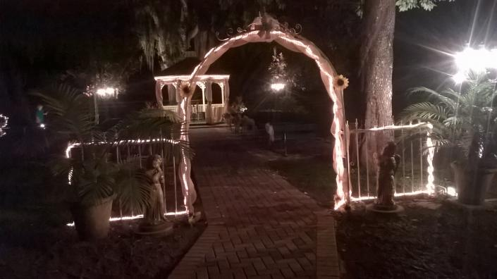 Night time in the Gazebo area]